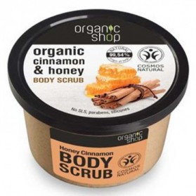 Cukrowy peeling Miód i Cynamon Organic Shop