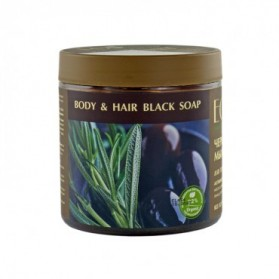 Czarne, mydło greckie do ciała i włosów