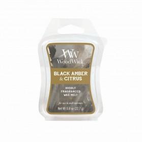 Artisan-Black Amber & Citrus wosk WoodWick