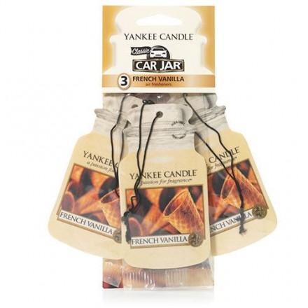 French Vanilla car jar 3-pack