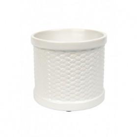 Kominek elektryczny Weave biały
