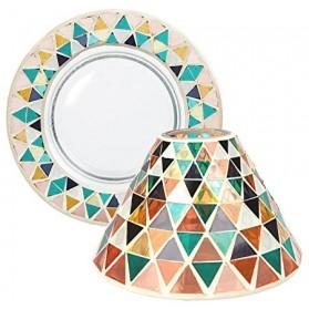 Corsica Mosaic duży klosz + talerz