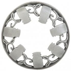 Nakładka na słoik Brushed Silver