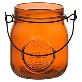 Świecznik na sampler Jam Jar pomarańczowy
