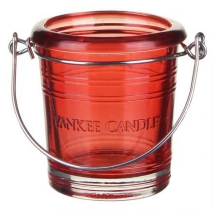 Świecznik na sampler Bucket czerwony