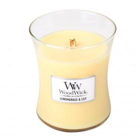 Lemongrass & Lily średnia świeca WoodWick