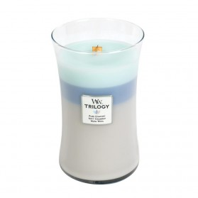 Woven Comforts świeca duża Trillogy WoodWick