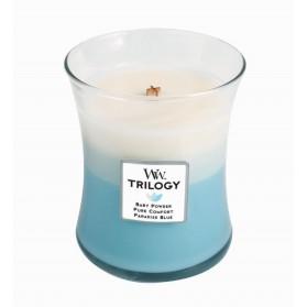 Fresh & Clean  świeca średnia Trillogy WoodWick
