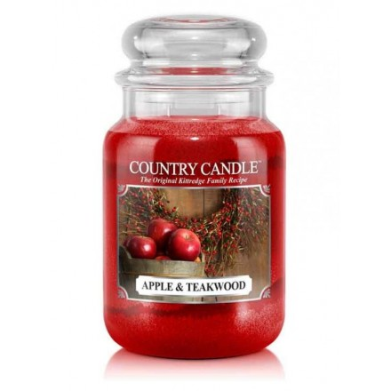 Apple & Teakwood słoik duży Country Candle