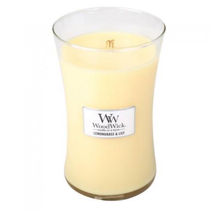 Lemongrass & Lilly świeca duża Woodwick