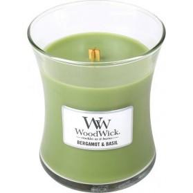 Bergamot & Basil średnia świeca WoodWick