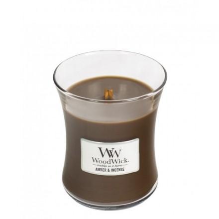 Amber & Incense świeca mała WoodWick