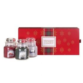 Alpine Christmas zestwa trzech małych słoików Yankee Candle