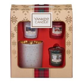 Alpine Christmas-3 samplery/votive ze  świecznikiem zestaw