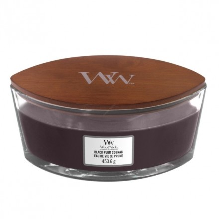 Black Plum Cognac Heartwick WoodWick