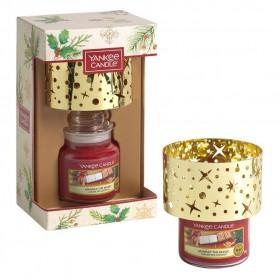 Zestaw Magical Christmas Morning mały słoik + klosz Yankee Candle