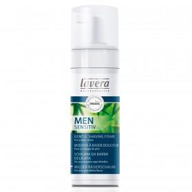 Men Sensitiv Łagodna pianka do golenia z wyciągiemm z bio-bambusa i bio-aloesu Lavera