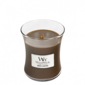 Amber & Incense świeca średnia WoodWick