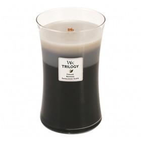 Warm Woods duża świeca Trillogy WoodWick