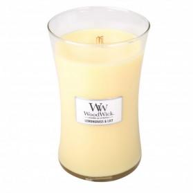 Lemongrass & Lily duża świeca WoodWick