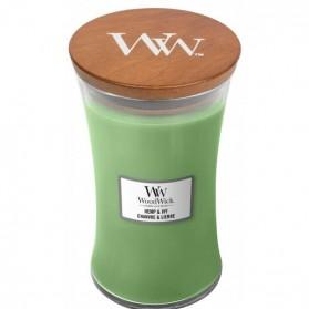 Hemp & Ivy świeca duża Woodwick