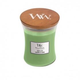 Hemp &  świeca średnia Woodwick