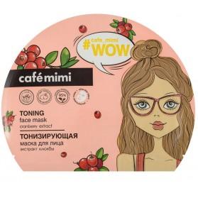 Cafe Mimi maska w płachcie Tonizująca - Żurawina