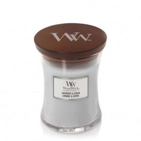 Lavender & Cedar Świeca Średnia WoodWick