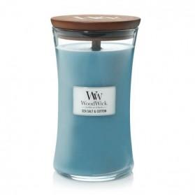 Sea Salt & Cotton Świeca Duża WoodWick