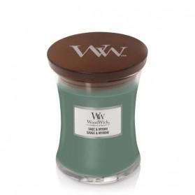 Sage & Myrrh świeca średnia Woodwick