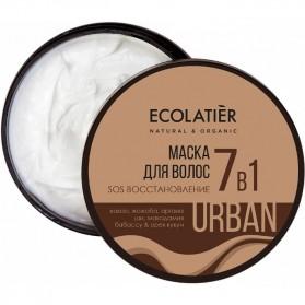 Regenerująca maska SOS do włosów 7w1 ECOLATIER URBAN