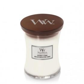 Coconut & Tonka świeca średnia WoodWick