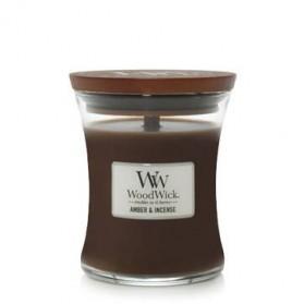 Amber & Incense swieca mała WoodWick