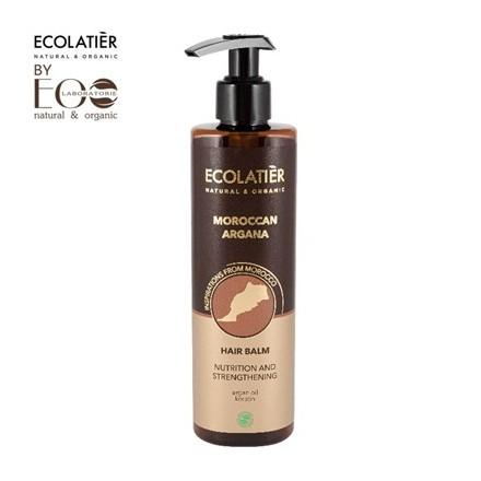 MAROKAN ARGAN Balsam do włosów Odżywczo - Wzmacniający ECOLATIER 250ml