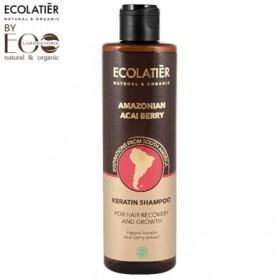 AMAZONIAN ACAI BERRY Kreatynowy szampon do włosów Regeneracja i Wzrost ECOLATIER 250ml