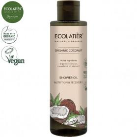 COCONUT Olejek pod prysznic Odżywianie i Odnowa 250ml ECOLATIER