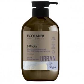 Odbudowujący balsam do włosów zniszczonych Argan i Biały Jaśmin 400 ml ECOLATIER URBAN