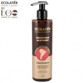 AMAZON ACAI BERRY Keratynowy balsam do włosów Regeneracja i Wzrost 250 ml ECOLATIER